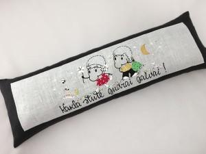 lina spilvens ar griķu sēnalām 20 x 60 cm